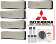 Мульти-сплит-система Mitsubishi Heavy Industries SCM100ZM-S + 5 внутренних блока типа Deluxe (20+20+20+20+20) (titanium)
