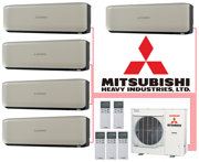 Мульти-сплит-система Mitsubishi Heavy Industries SCM100ZM-S + 5 внутренних блока типа Premium (20+20+20+20+20) (titanium)