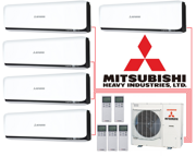 Мульти-сплит-система Mitsubishi Heavy Industries SCM100ZM-S + 5 внутренних блока типа Deluxe (20+20+20+20+20) (contrast)