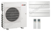 Кондиционер Mitsubishi Electric мульти-сплит-система MXZ-2D33 + 2 внутренних блока типа Premium LN (25+25) (белый)