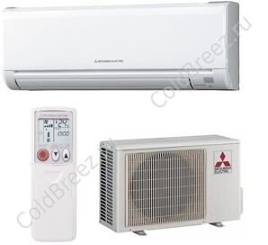 Кондиционер Mitsubishi Electric настенный сплит-система серии Standard on/off MS-GF25VA / MU-GF25VA (frost -40) зимний комплект